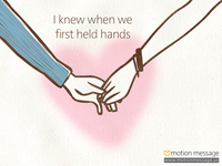 I knew when we first held hands