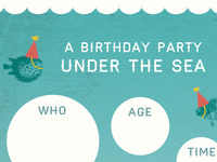 Under The Sea party invite