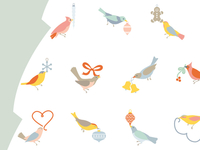 Birds Advent Calendar, Interior