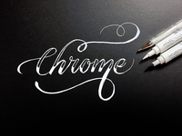Calligraphy/Lettering Chrome