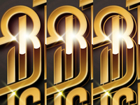 Bruce Leroys logo, adding effects