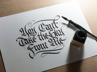 Calligraphy for tattoo, vs 1
