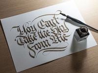 Calligraphy for tattoo, vs 2