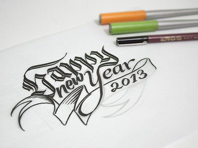 Happy new Year – finishing