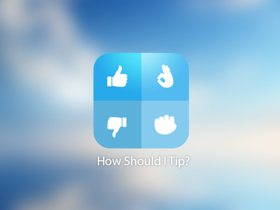How Should I Tip | App Icon