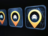 Taxi iOS icon evolution WIP