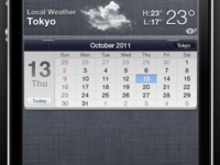 Calendar Widget for Notification Center