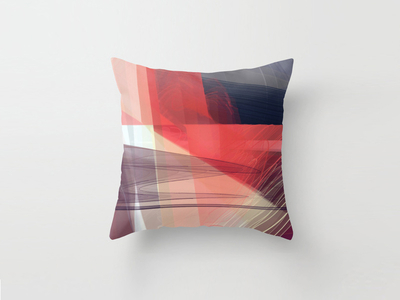 Generative art throw pillow