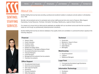 Sentinel Staffing Solutions - Secondary Page
