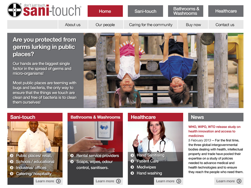 Sani-touch-homepage