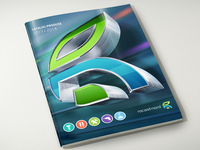 Catalog Cover Concept [WIP] with 3d logo