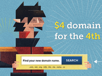 $4 Domain Names for the 4th