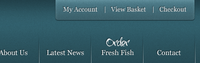 Navigation for new Fresh Fish website