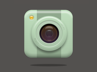 Cute camera icon for practice