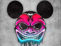 Harlequin Mickey