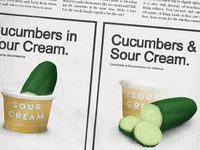 Cucumbers & Sour Cream