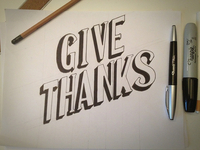 Give Thanks - Sketch