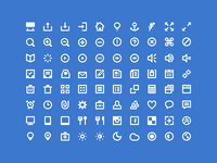 80 Shades of White Icons
