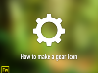 Gear icon - Fireworks tutorial