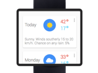 google smart watch - weather