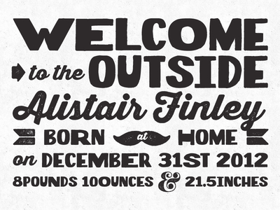 Alistair's Birth Announcement v.1