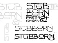 Stubborn Press & Co Rebranding