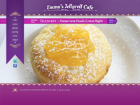 Website Design, Emma's Jellyroll Cafe