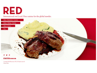 Website Design, Red Restaurant