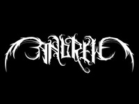 Black metal logo of my name