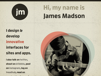 jamesmadson.me Refresh