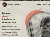 jamesmadson.me redesign