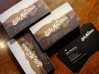 Little Mountain Print Shoppe Business Cards