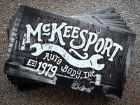 McKeesport Auto Business Cards