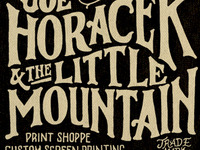 Joe Horacek & the Little Mountain Print Shoppe