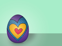 Painted Egg Lady Logo