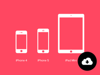 iPhone 4, iPhone 5, iPad Mini Photoshop Custom Shapes