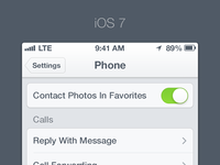 iOS 7 - Settings
