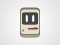 AppleAddicted's Macintosh mascot