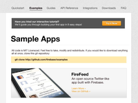 Sample Apps Page Firebase