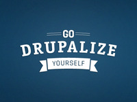 Go Drupalize Yourself (arched)