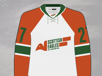 Ayr Scottish Eagles Retro Light Jersey