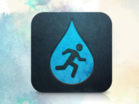 Steps for Water iOS App Icon