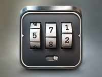 Combination Lock iOS Icon