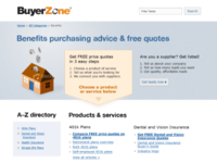 Buyer Zone - Benefits category