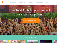 Festival Addicts - Public Facing Site