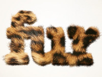 Furry Text in Pixelmator