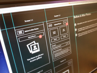 App Directional Flow Wireframes