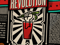 Bloody Revolution Label V9 detail