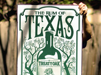 SXSW Rock Poster for Treaty Oak Distilling