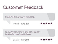 Customer Feedback - Brochure